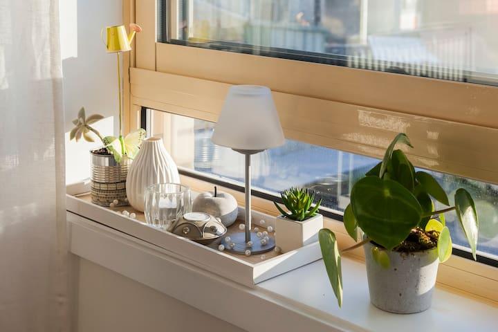 Bright & Quiet flat w/balcony in Center