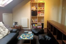 Your private guest lounge - with TV, dvd's, games, books, drinks cooler etc.