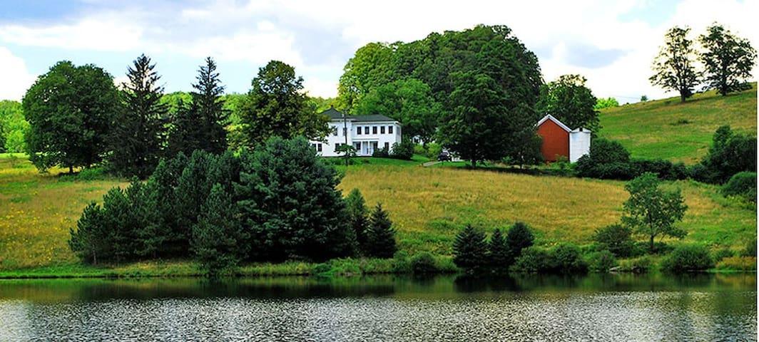 Restored Farmhouse & Private Lake near Oneonata