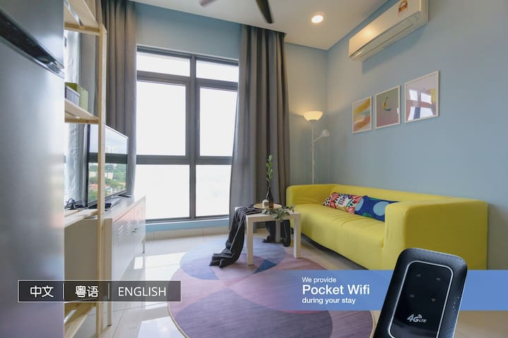 Modern Cozy 2Beds+2Bath @ Vivo 9 Seputeh MidValley