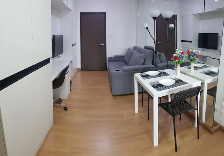 48 sqm (no cleaning fee) 1 bed+1 bath+kitchen+wifi