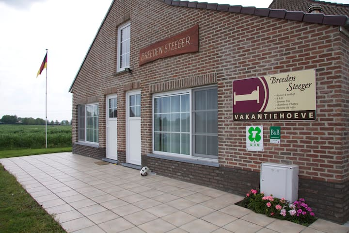 Chambre 1 B&B Ferme Breeden Steeger - Lichtervelde - Bed & Breakfast