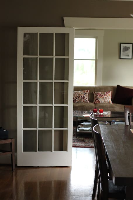 French doors from and to Living room and Dinning room