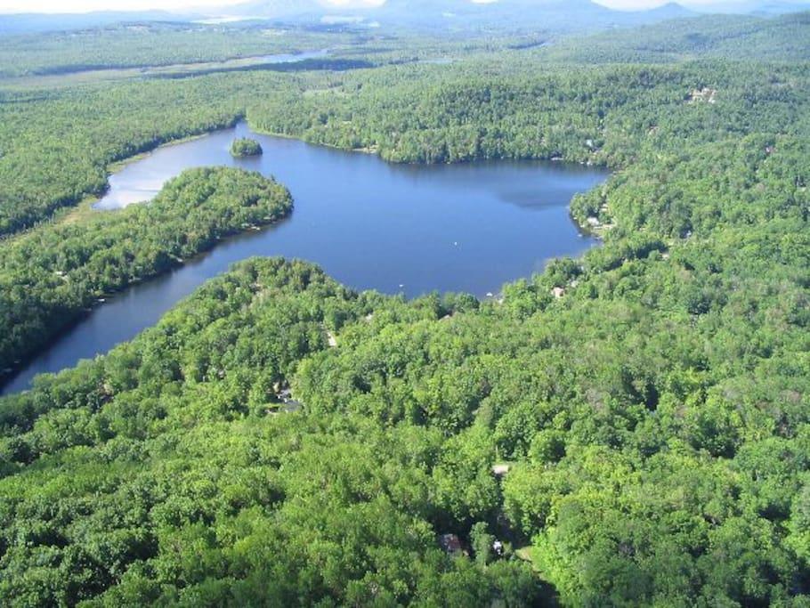 accès direct au lac des Sittelles