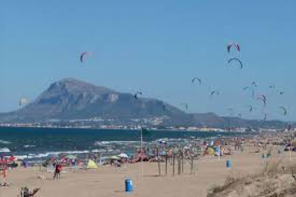 Playa de varios Kilometros
