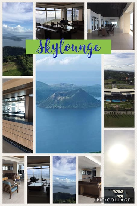 SKYLOUNGE AT TOWER3, Amazing view of Taal Volcano & Lake