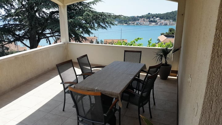 Three bedroom apartment with terrace and sea view Tisno, Murter (A-812-a)