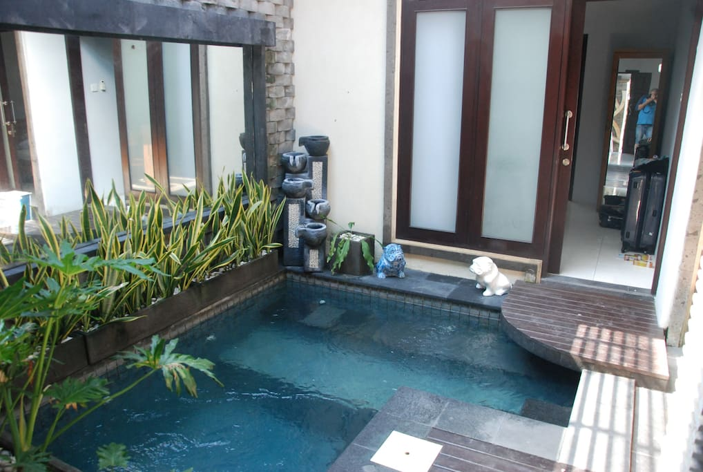 Your private plunge pool is actually part of the living room