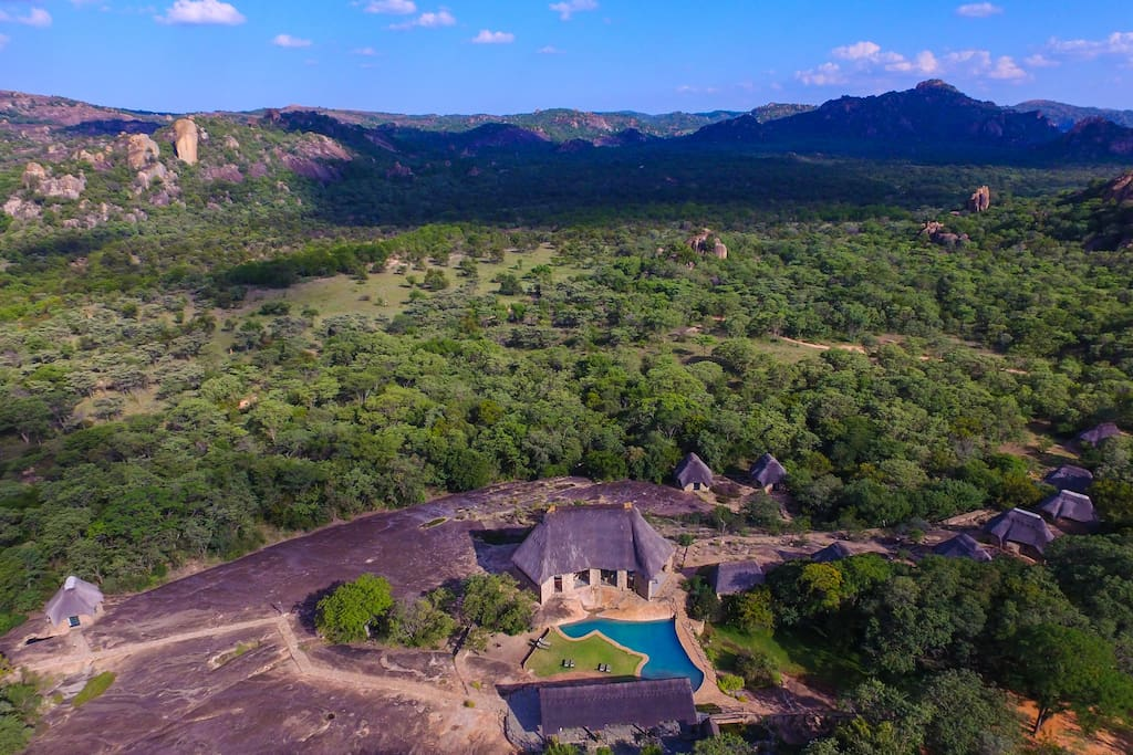 Ariel view of Matobo Hills Lodge