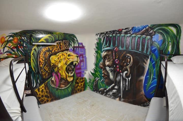 Sleep w/ a Mayan WARRIOR @FiestaPartyHostel