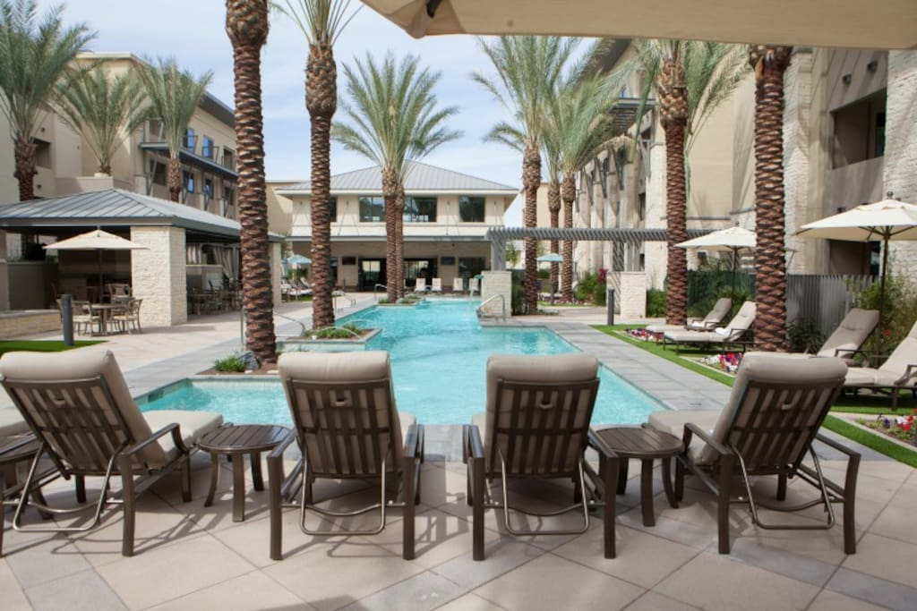 You will love the resort style ambiance and plush sun loungers