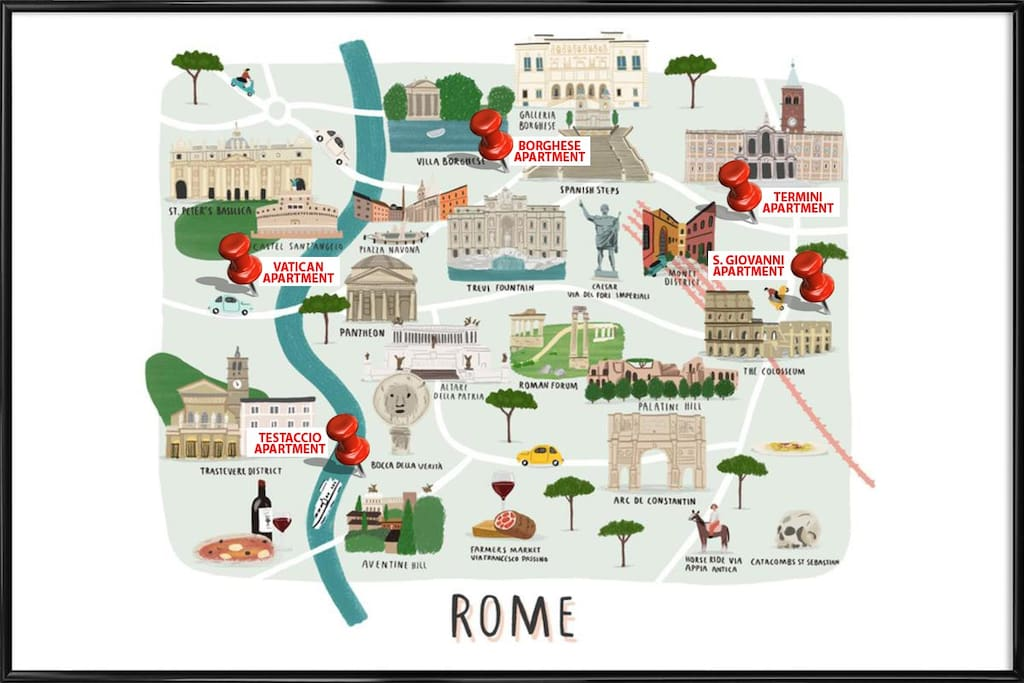 We have rooms and apartments in different parts of the town. We will make sure to find a perfect solution for your amazing stay in Rome :)