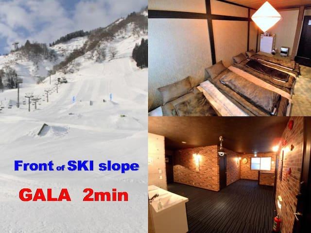 FJ18Right in front of ski sople!2min to GALA!Wifi - Yuzawa - Bed & Breakfast