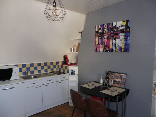 "Chic&vintage studio ""le Castanon"" 5 mn from beach - Berck - อพาร์ทเมนท์"