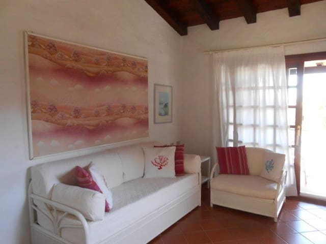 One-room Apartment with Air Conditioning, Pool and Balcony; Parking available