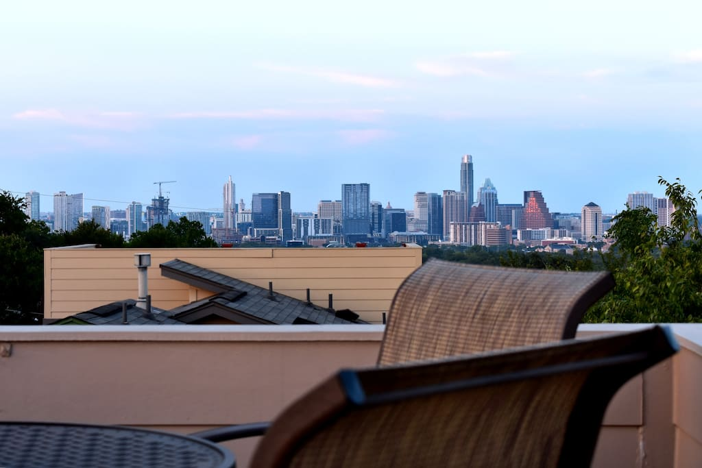 Unwind on the rooftop terrace and catch the sunset after a day exploring the city.
