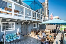 Amazing patio and balcony facing Huntington Harbor canal. BBQ available for your use.