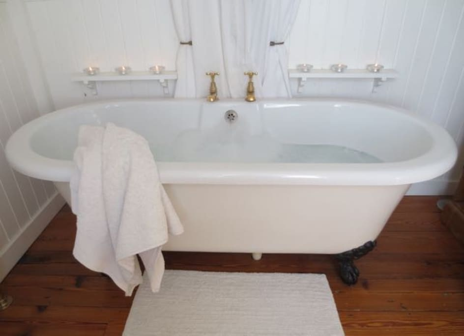 chill out in a relaxing bath to your favourite music