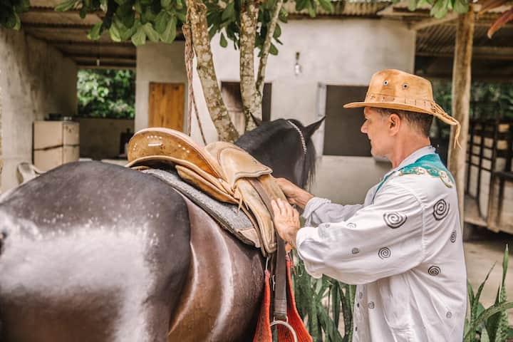 Preparando os cavalos