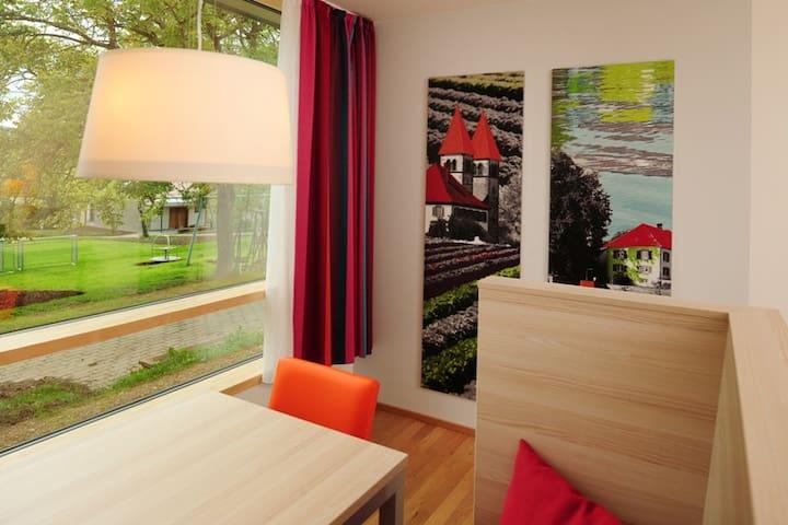 Haus Insel Reichenau - FamilienFerien Freiburg, (Reichenau), Vierbettzimmer mit zwei Etagenbetten