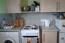 Nice clean kitchen, ready to be used  by you.