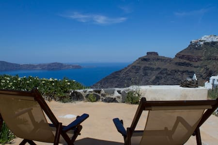 """Envision"" studio, breathtaking sea views!!! - Thira - Hus"