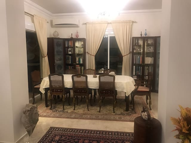 The host's dining room
