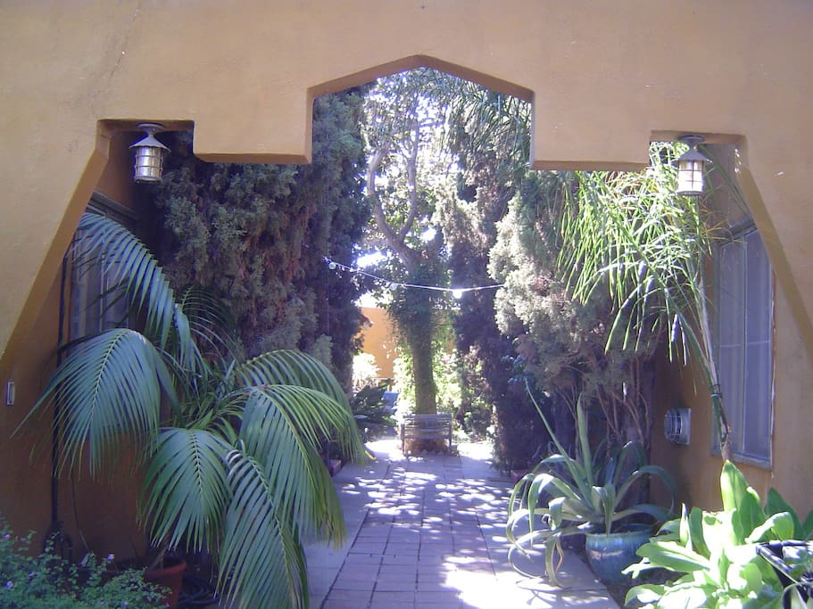 Entrance to courtyard