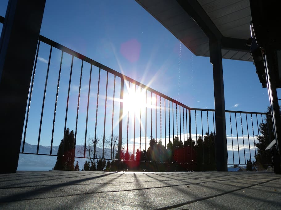 Private deck with an awsome view of Okanagan lake