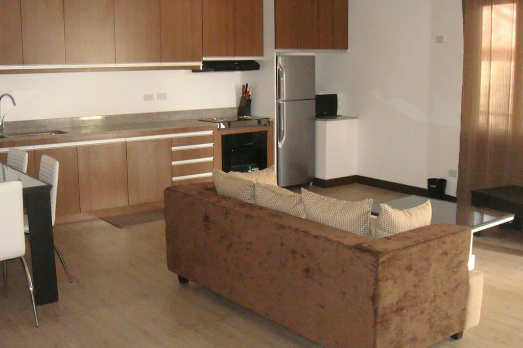 Spacious Kitchen/Dining/ Livingroom