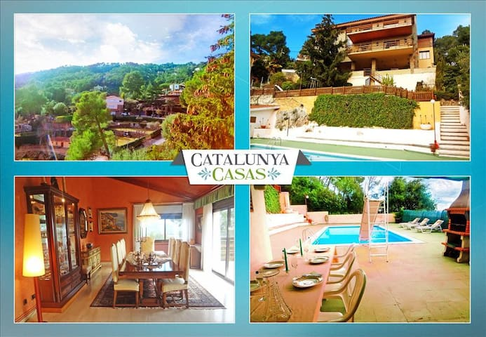 Heavenly 3-story villa in Sant Feliu with 5 bedrooms and a private pool only 25km from Barcelona - Barcelona Region - วิลล่า
