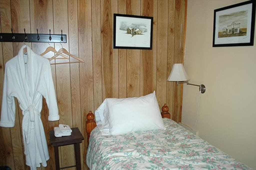 This single room on lower floor is quiet and great for guests to book for before or after a kayaking adventure!