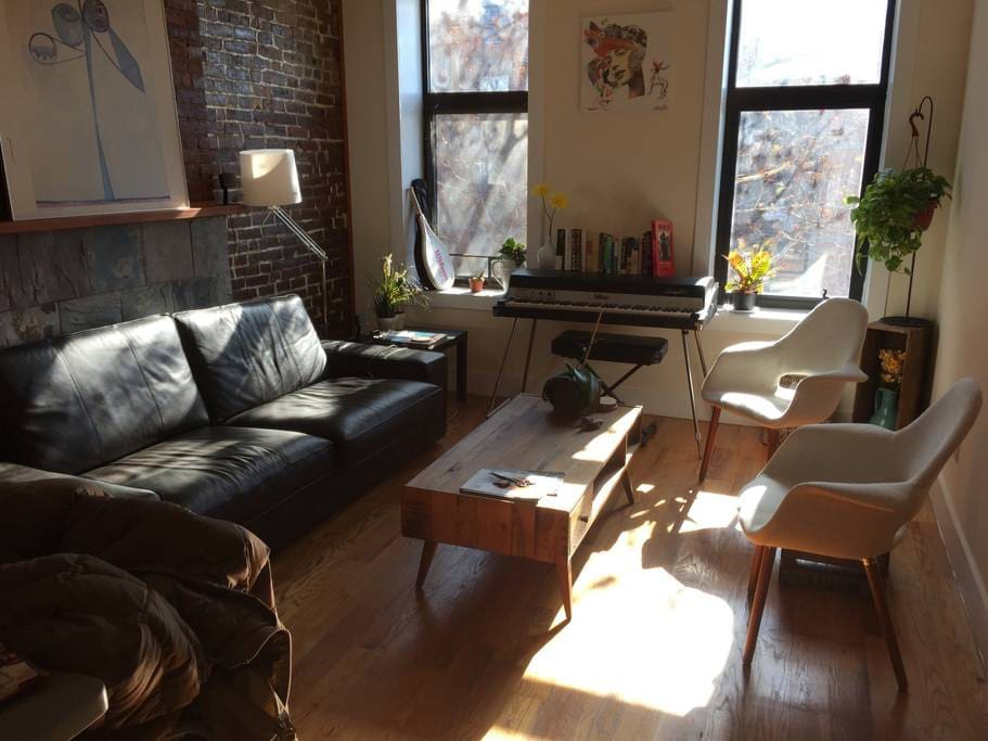 The living room gets exceptional natural sunlight all day.