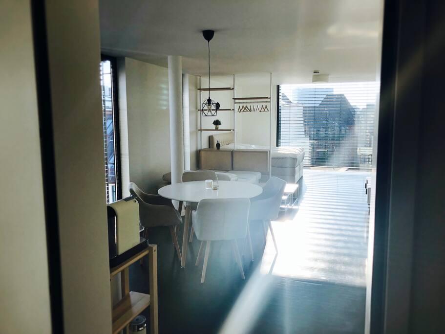 Entrance: Studio Loft Apartment inside Penthouse