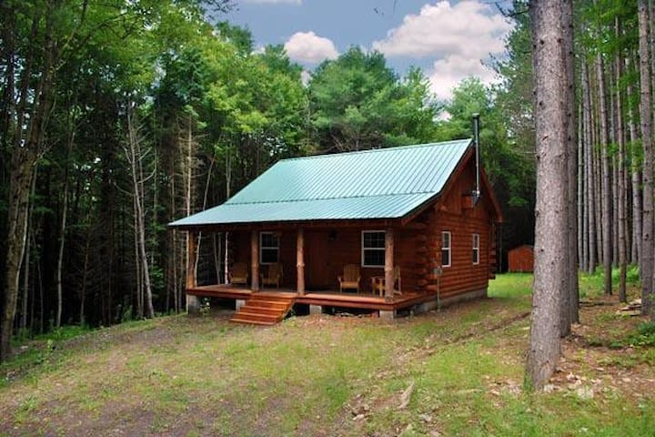 SECLUDED NEW BUILT LOG CABIN! Private with firepit