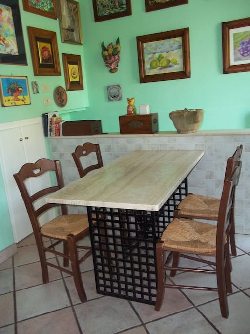 The kitchen's table.