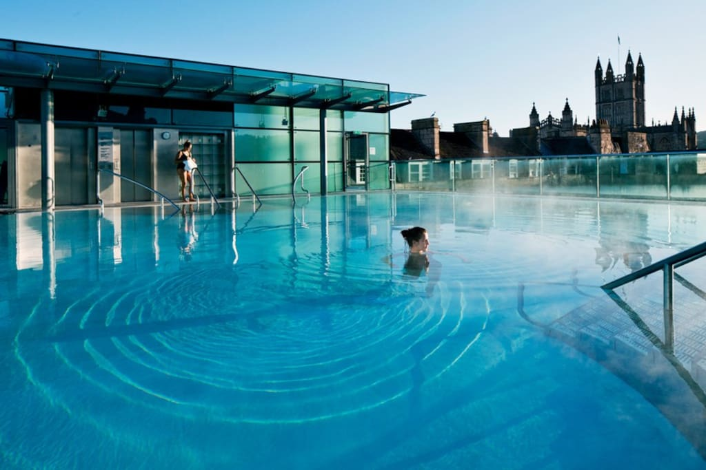 Roof top of the Thermae Spa, just a stroll from your door