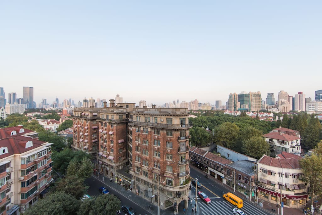 The beautiful view out towards the historic french concession