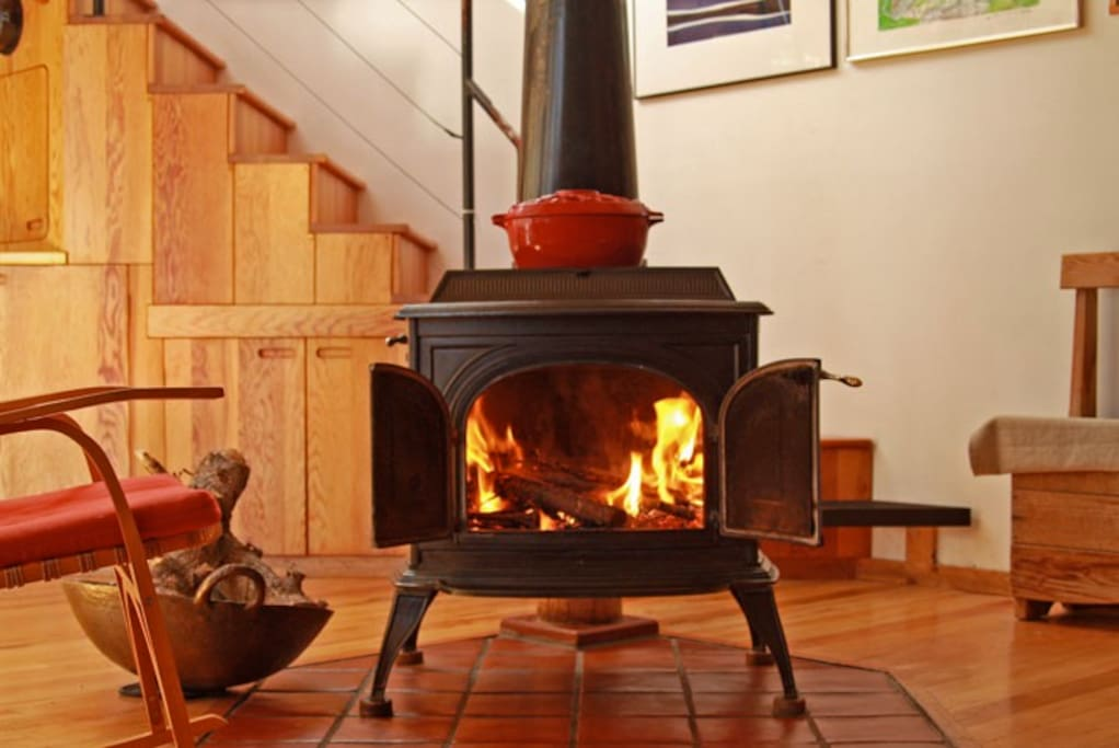 Vermont Castings wood stove in Living Room