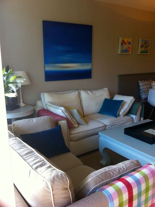 A comfortable seating area for relaxing or watching TV