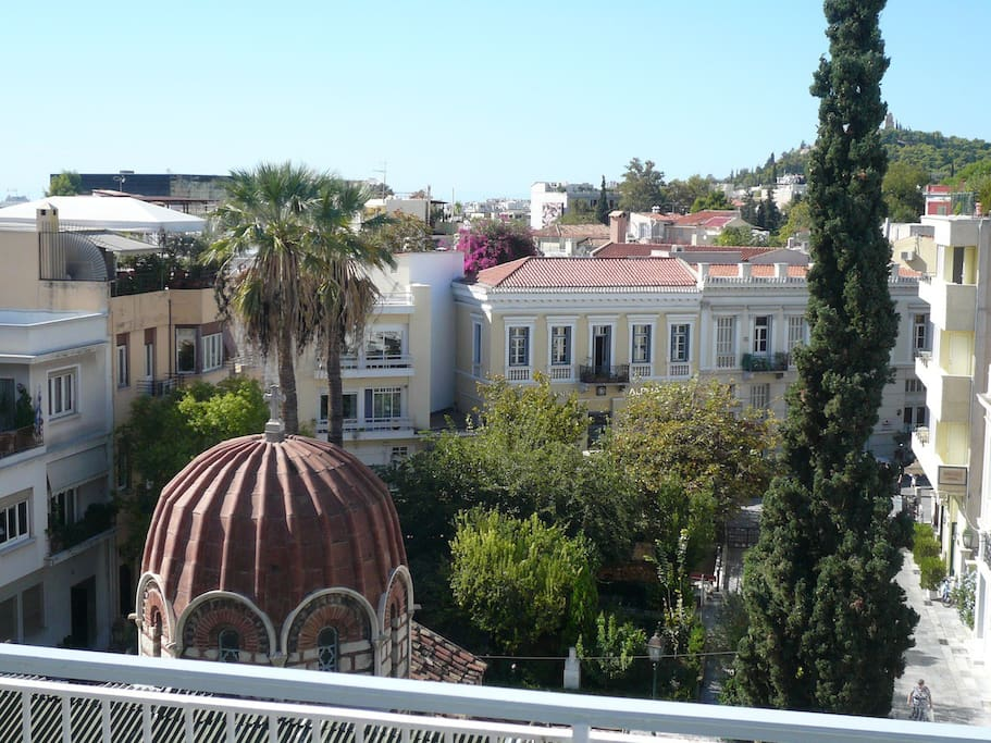 Terrace view on Saint Katherine Church
