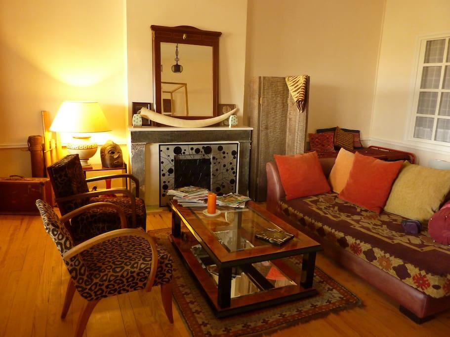 Lounge corner of the Suite Africaine, Le Dormeur du Val (Aquitaine)