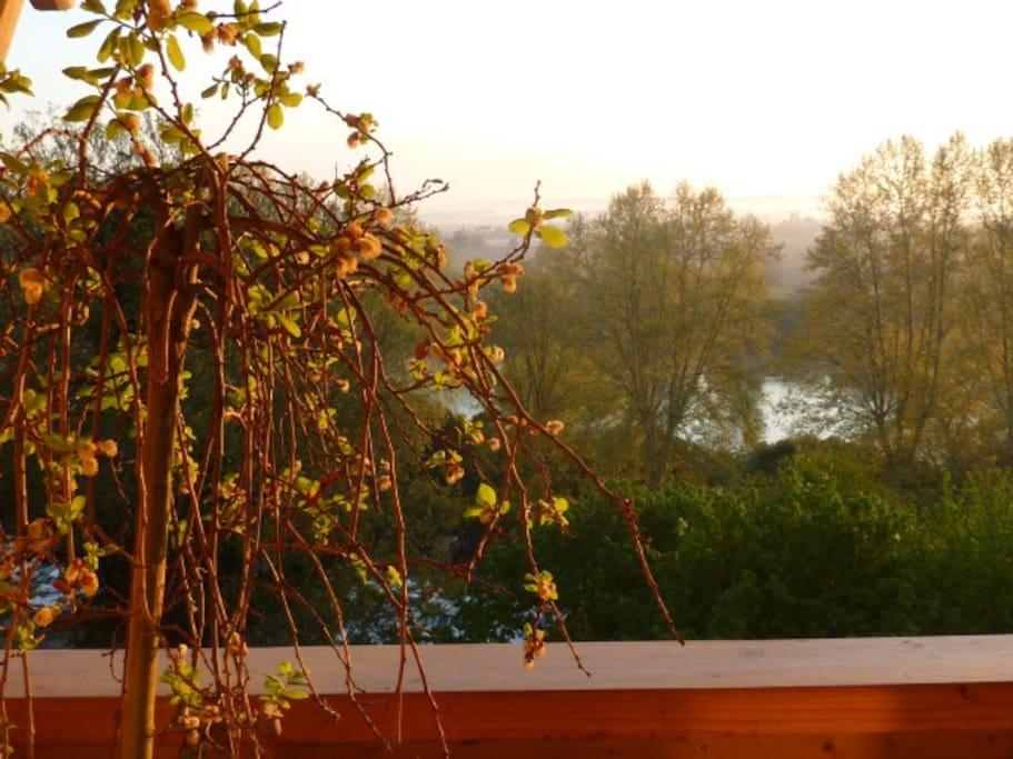 View from the Suite Africaine balcony, Le Dormeur du Val (Aquitaine)