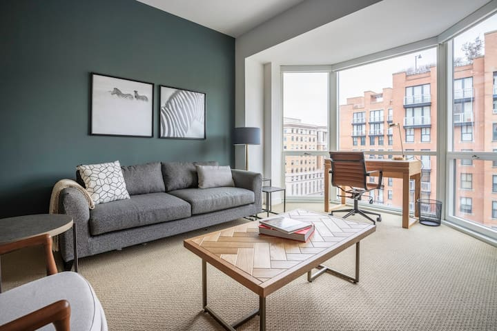 Bright Penn Quarter 1BR w/ W/D, Gym, Doorman, nr. Metro, by Blueground