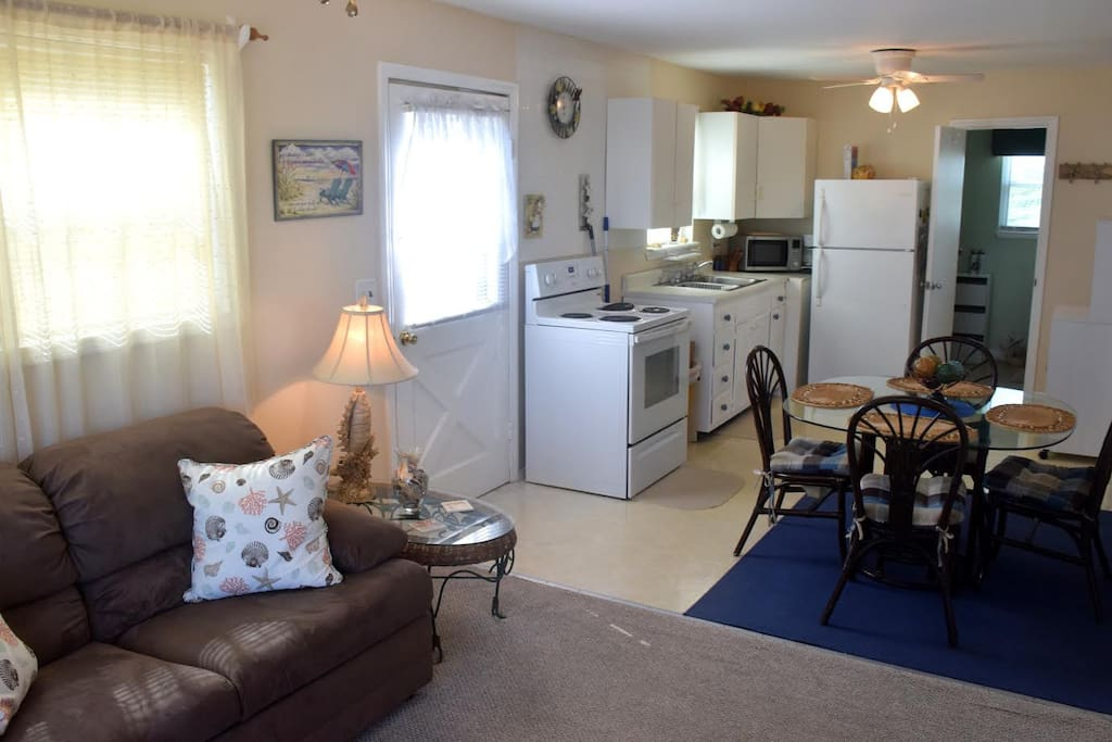 Dining, Living Room & Kitchen View