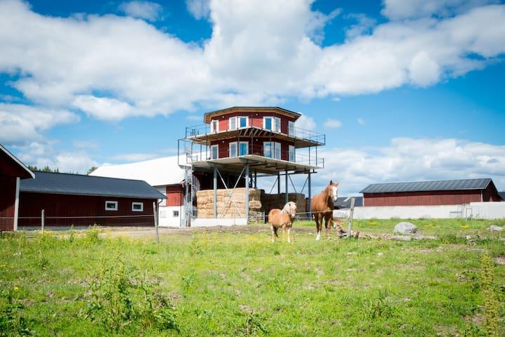 Nybyggt Tornhus i lantlig miljö - Säter C - Loft
