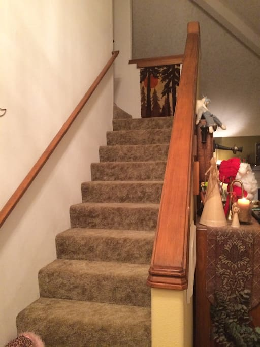 one flight of stairs to bedrooms