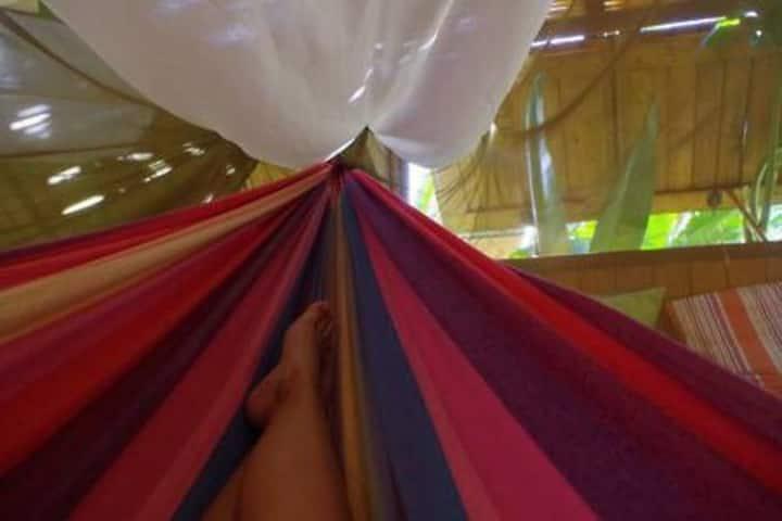 Dormir en hamac à Marie-Galante