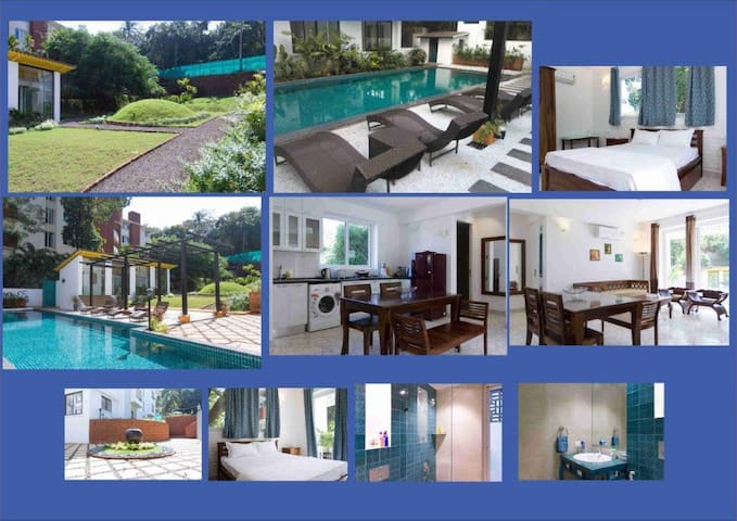 North Goa Luxury Apartment near Candolim Beach - Goa del nord - Pis