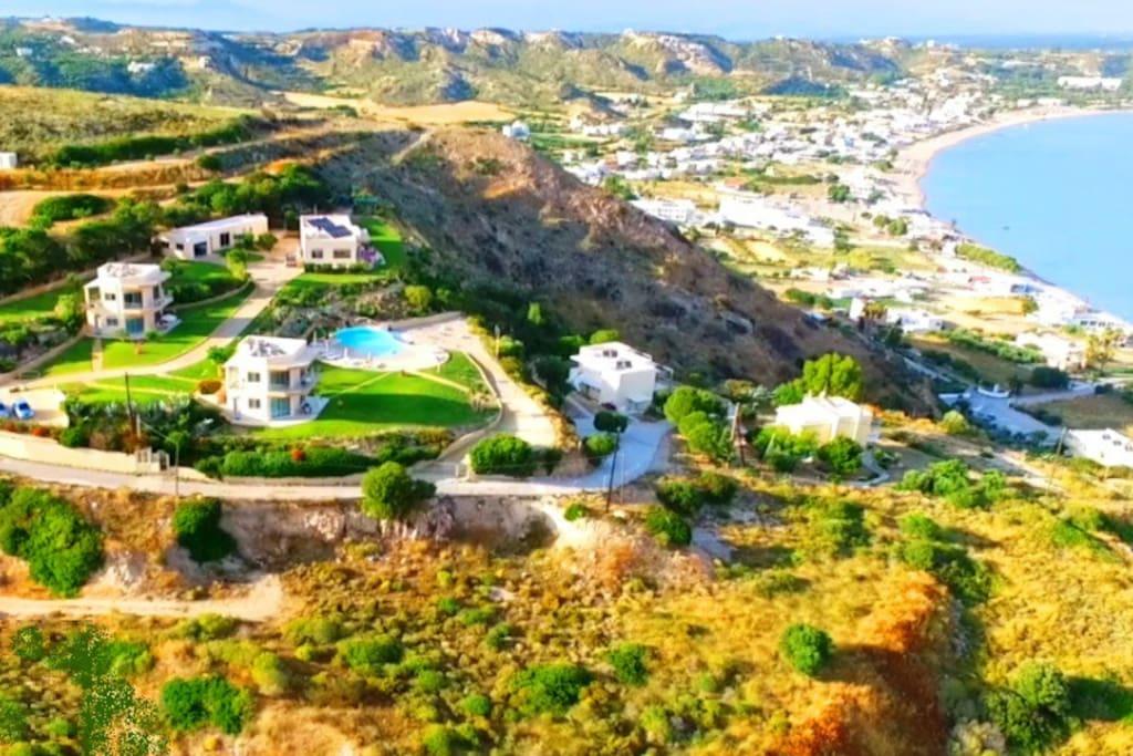 Vue aérienne de Kefalosbay Residence
